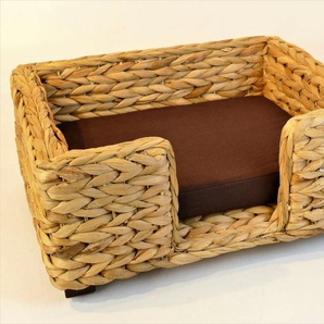 ARTRA Tierkorb »Artra Design Hundekorb/Katzenbett für Kleinere Hunde oder Katzen Keno aus Wasserhyazinthe, natur 50 cm«