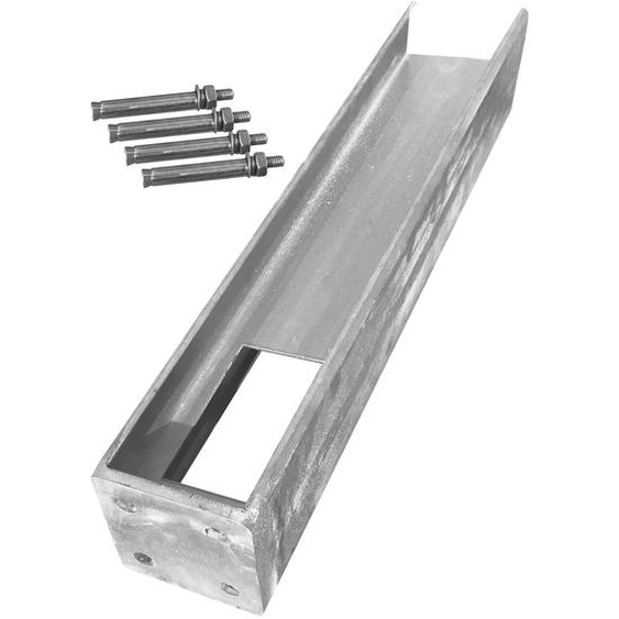 Arvotec Bodenplatte für Kunststoffzäune lang 180 x 12,7 x 12,7 cm