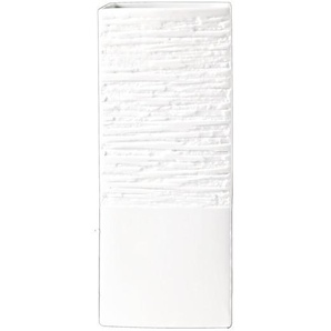 ASA Selection Relief Lampe mit Relief Quadratisch Weiß B 13.5cm