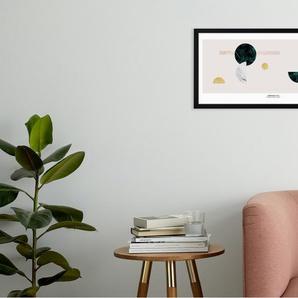 Assemblage Long, gerahmter Kunstdruck (30 x 70 cm), Mehrfarbig