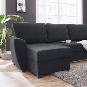 ATLANTIC home collection Ecksofa, inklusive Bettfunktion und Bettkasten