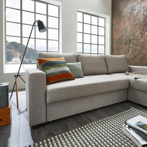 ATLANTIC home collection Ecksofa, mit Bettfunktion und Bettkasten