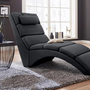 ATLANTIC home collection Relaxliege B/H/T: 64 cm x 95 159 cm, Kunstleder SOFTLUX® schwarz Relaxliegen Sessel