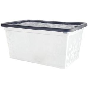 Aufbewahrungsbox mit Deckel  Yasmin ¦ grau ¦ Kunststoff ¦ Maße (cm): B: 29,2 H: 13,9 T: 19,4 Aufbewahrung  Aufbewahrungsboxen  sonstige Aufbewahrungsmittel - Höffner