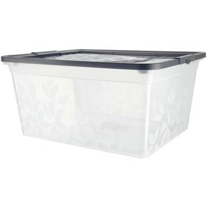 Aufbewahrungsbox mit Deckel  Yasmin ¦ grau ¦ Kunststoff ¦ Maße (cm): B: 35,7 H: 16,9 T: 29,4 Aufbewahrung  Aufbewahrungsboxen  sonstige Aufbewahrungsmittel - Höffner