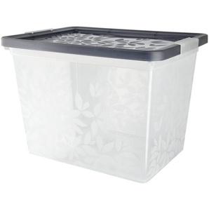 Aufbewahrungsbox mit Deckel  Yasmin ¦ grau ¦ Kunststoff ¦ Maße (cm): B: 39,5 H: 28 T: 29 Aufbewahrung  Aufbewahrungsboxen  sonstige Aufbewahrungsmittel - Höffner