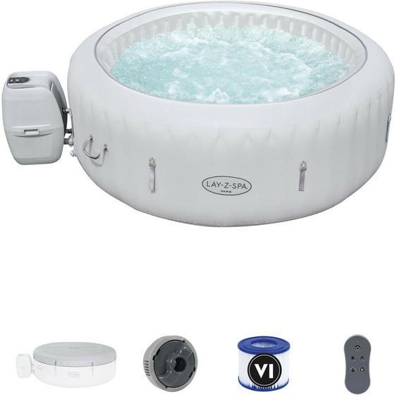 Aufblasbarer Whirlpool Lay-Z-Spa Paris Para Für 4-6 Personen Rund 196x66 cm mit LED-Beleuchtung - Bestway