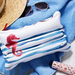 Aufblasbares Kissen mit Tasche
