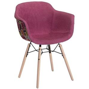 Auffällige Stühle in Pink Blumen Motiven (2er Set)