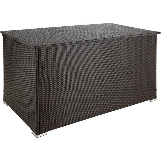 Auflagenbox mit Aluminiumgestell Stockholm, 145x82,5x79,5cm - braun