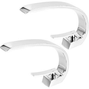 2er Einhebelmischer Design Waschtischarmatur Wasserhahn Chrom Bad Armatur Mischbatterie Waschbeckenarmatur für Badezimmer Waschbecken - AURALUM