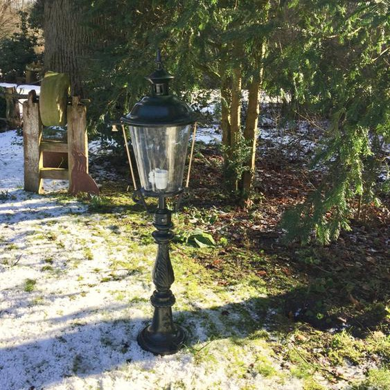 Aussenlampe für Gartenweg Landhaus Aussenleuchte Beleuchtung Vintage - H.109 cm