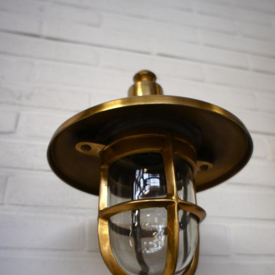 Aussenleuchte aus Messing, hochwertige Schiffs- Lampe, Scheepslamp M