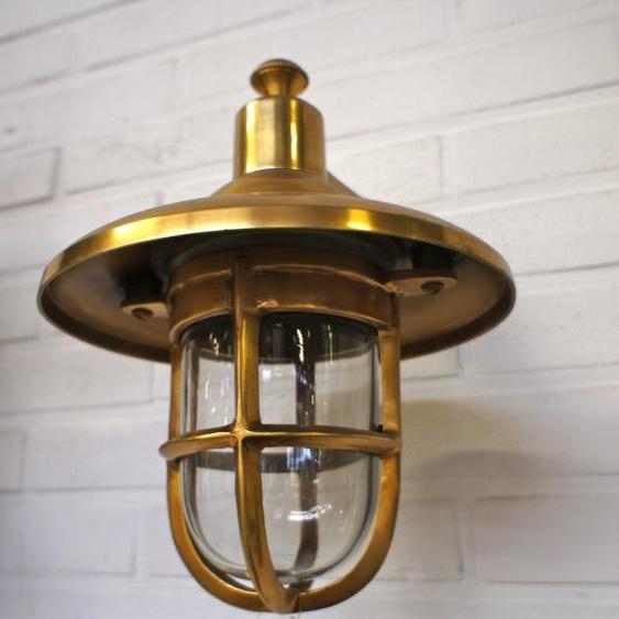 Aussenleuchte Haustür, Messing- Schiffslampe, Lampe f. Gartenhaus, Scheepslamp S