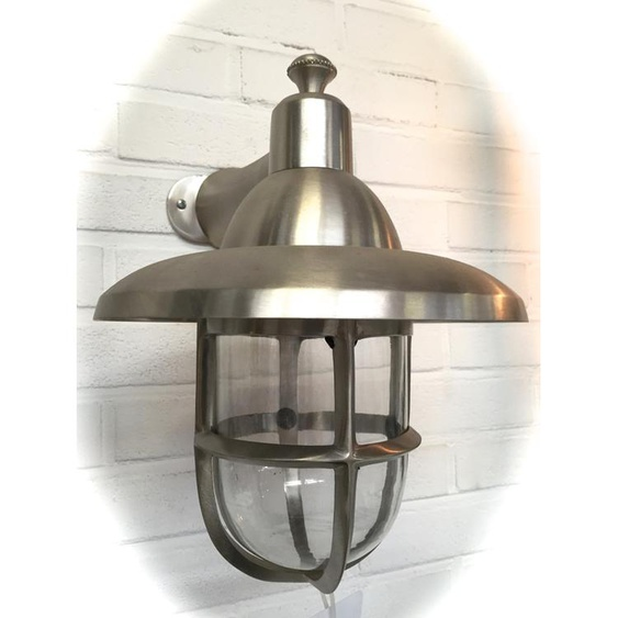Aussenleuchte Nickel, Terrassenbeleuchtung Aussenlampe Eingang, Lampe Schiff XL