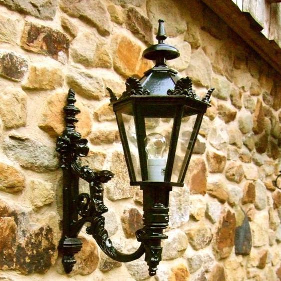 Außenleuchte, rostfreie Wandlampe für die Haustür, Eingangslampe Madrid H 65 cm