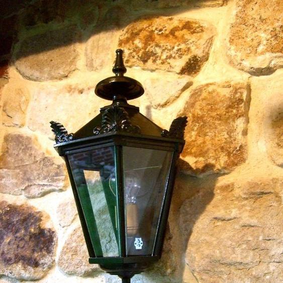 Außenleuchte, Terrassen-Beleuchtung im Landhausstil, Wandlampe Alkmar H 69 cm