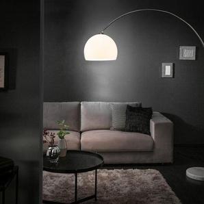 Schön Design Bogenlampe LOUNGE DEAL Weiß Marmorfuß 175   205cm Ausziehbar  Bogenleuchte