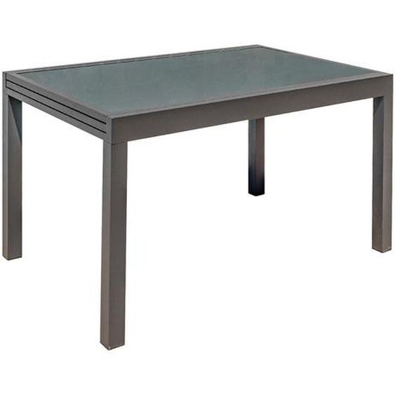 Ausziehbarer Gartentisch anthrazitgrau L135-270 cm PORTOFINO