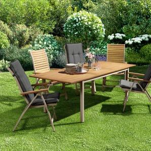 Ausziehbarer Gartentisch - naturfarben -