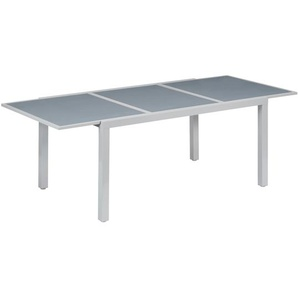 Gartentisch Meike Glas/Aluminium ausziehbar 159,6/230 x 100 x 74 cm
