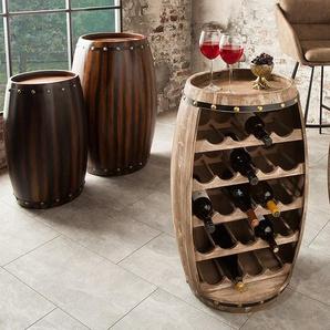 Authentisches Weinregal BODEGA 80cm natur Weinfass Shabby Chic