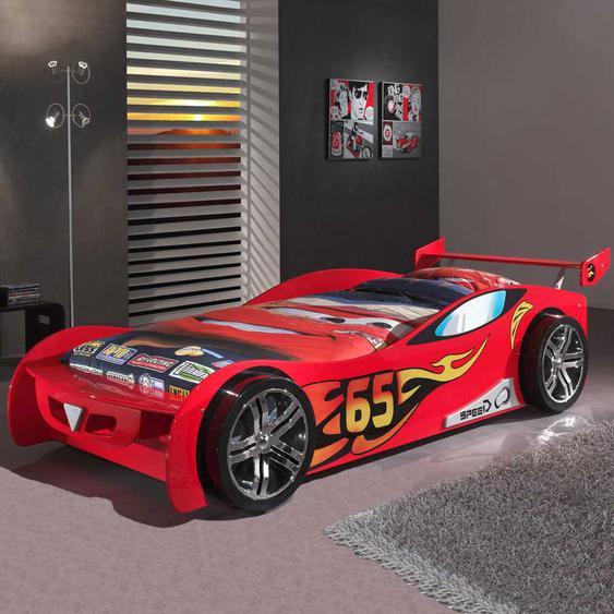 Auto-Bett in Rot Lattenrost