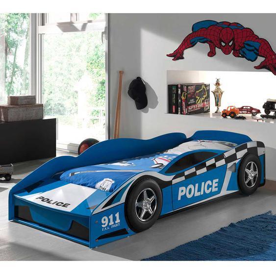Autobett im Polizei Design Lattenrost