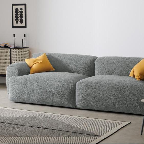 Avalon 3-Sitzer Sofa, Boucle in Stahlgrau