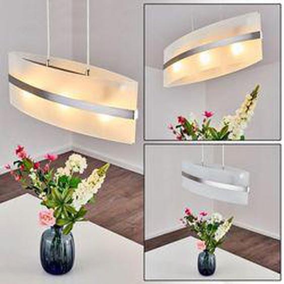 Avellino Pendelleuchte Edelstahl, Weiß, 3-flammig - Modern - Innenbereich - versandfertig innerhalb von 2-4 Werktagen