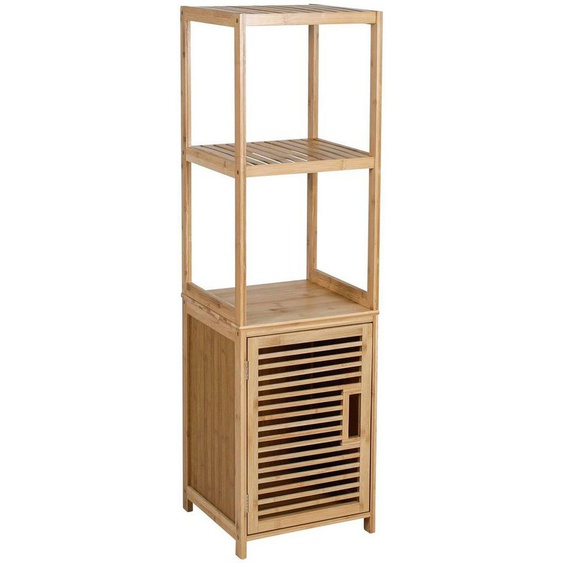 axentia Hochschrank »Badschrank, Bambus, mit Ablage« Maße: ca. 33 x 115 x 33 cm