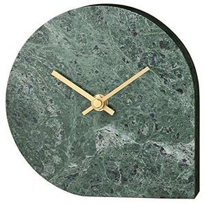 AYTM - Tischuhr, Uhr - STILLA - Marmor/Messing - grün - L19xW4xH15,8 cm