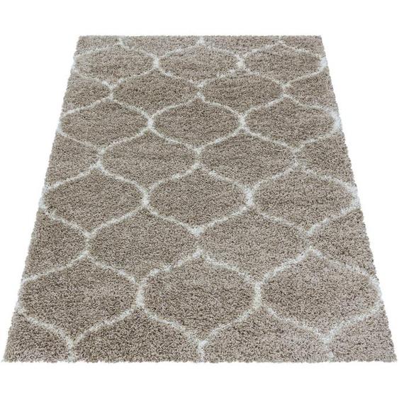 Ayyildiz Hochflor-Teppich SALSA 3201, rechteckig, 50 mm Höhe, Wohnzimmer 160x230 cm, beige Schlafzimmerteppiche Teppiche nach Räumen
