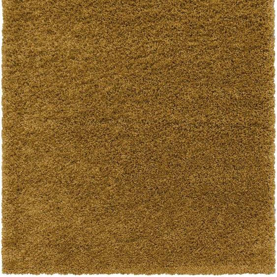 Ayyildiz Hochflor-Teppich SYDNEY 3000, rechteckig, 50 mm Höhe, Wohnzimmer 120x170 cm, goldfarben Schlafzimmerteppiche Teppiche nach Räumen