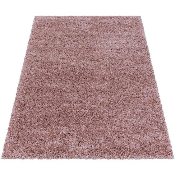 Ayyildiz Hochflor-Teppich SYDNEY 3000, rechteckig, 50 mm Höhe, Wohnzimmer 200x290 cm, rosa Schlafzimmerteppiche Teppiche nach Räumen