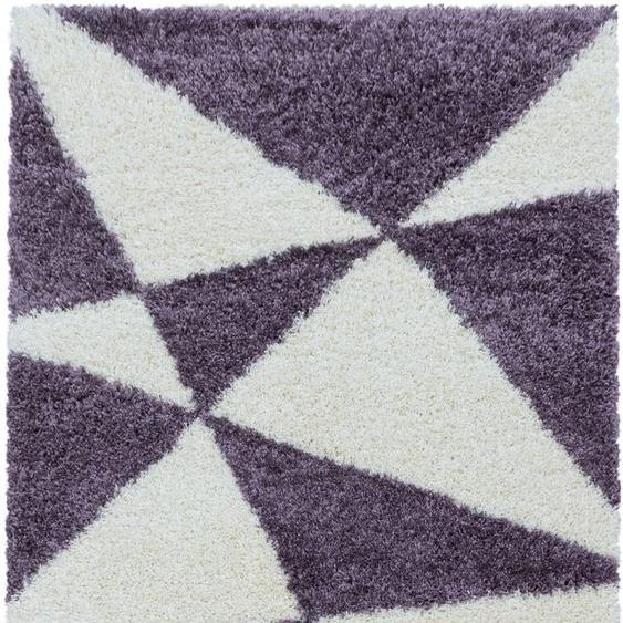 Ayyildiz Hochflor-Teppich TANGO 3101, rechteckig, 50 mm Höhe, Wohnzimmer 200x290 cm, lila Schlafzimmerteppiche Teppiche nach Räumen