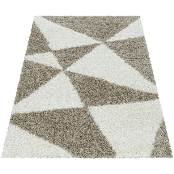Ayyildiz Hochflor-Teppich TANGO 3101, rechteckig, 50 mm Höhe, Wohnzimmer 240x340 cm, beige Schlafzimmerteppiche Teppiche nach Räumen
