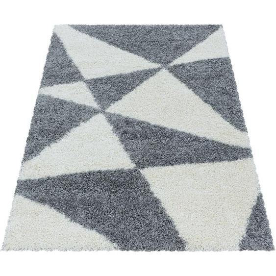 Ayyildiz Hochflor-Teppich TANGO 3101, rechteckig, 50 mm Höhe, Wohnzimmer 240x340 cm, grau Schlafzimmerteppiche Teppiche nach Räumen