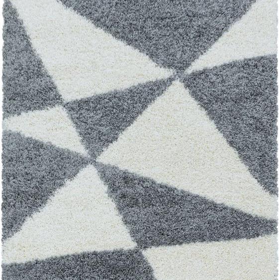 Ayyildiz Hochflor-Teppich TANGO 3101, rechteckig, 50 mm Höhe, Wohnzimmer 280x370 cm, grau Schlafzimmerteppiche Teppiche nach Räumen