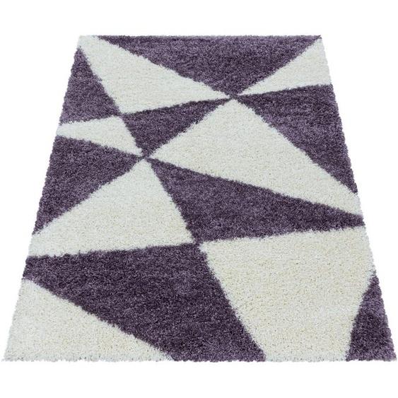 Ayyildiz Hochflor-Teppich TANGO 3101, rechteckig, 50 mm Höhe, Wohnzimmer 280x370 cm, lila Schlafzimmerteppiche Teppiche nach Räumen