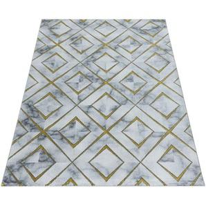 Ayyildiz Teppich NAXOS 3811, rechteckig, 12 mm Höhe, Wohnzimmer B/L: 240 cm x 340 cm, 1 St. goldfarben Esszimmerteppiche Teppiche nach Räumen