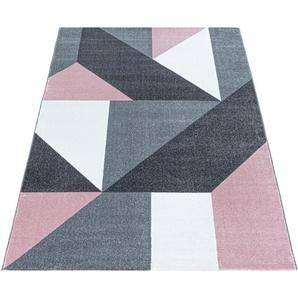 Ayyildiz Teppich OTTAWA 4205, rechteckig, 8 mm Höhe, Wohnzimmer B/L: 240 cm x 340 cm, 1 St. rosa Esszimmerteppiche Teppiche nach Räumen