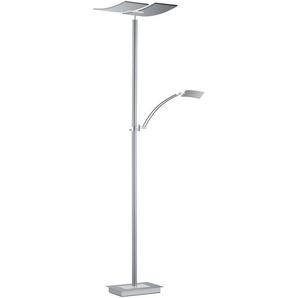 B-LEUCHTEN LED-Stehlampe, Alu, Eisen, Stahl & Metall