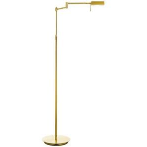 B-LEUCHTEN LED-Stehlampe, Gold, Metall