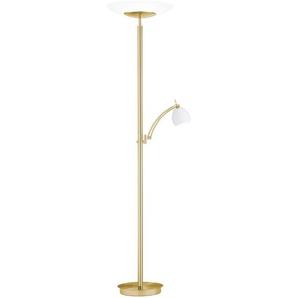 B-LEUCHTEN LED-Stehlampe, gold, Alu, Eisen, Stahl & Metall