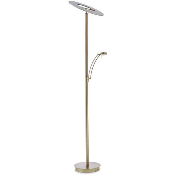 B-LEUCHTEN LED-Stehlampe, Messing, Alu, Eisen, Stahl & Metall