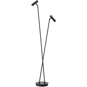 B-LEUCHTEN LED-Stehlampe, Schwarz, Alu, Eisen, Stahl & Metall
