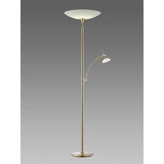 B+M Led-Stehleuchte , Gold , Metall , 181 cm