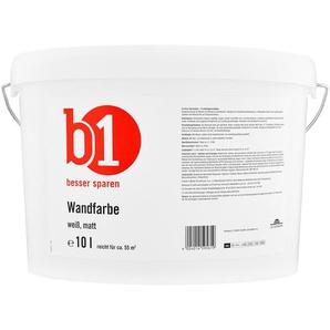 B1 Wandfarbe matt weiß 10 l