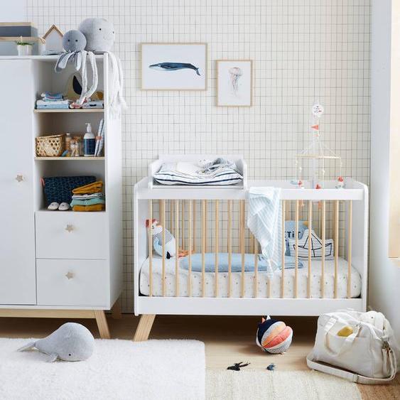 "Baby Gitterbett ""Großer Bär"" weiß/natur"